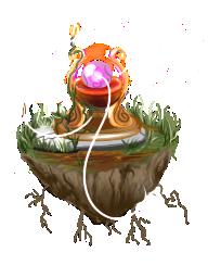 Floating Crystal Ball Island by Firgof