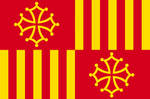 Flag of The Union of Catalonia and Occitania