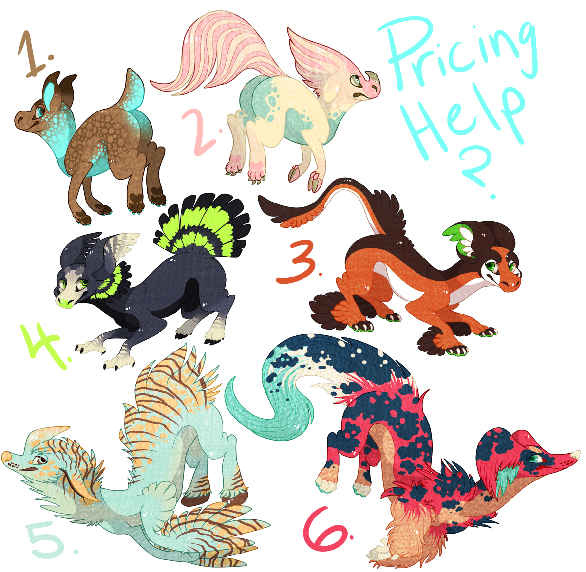[PRICING HELP] WAIDO adoptables batch 1 by Fumi-LEX