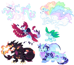 Sketched Poke'hybrid OC Commissions - batch 21