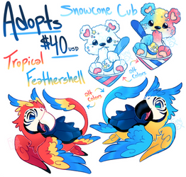 [One-off adopts - closed] Snowcones and Tropics