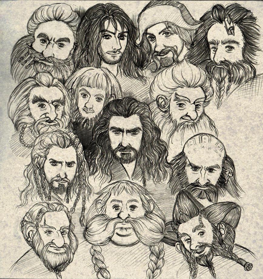 the hobbit dwarves by ekocentric
