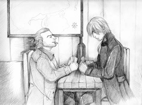 Card Players (Varric and Fenris)