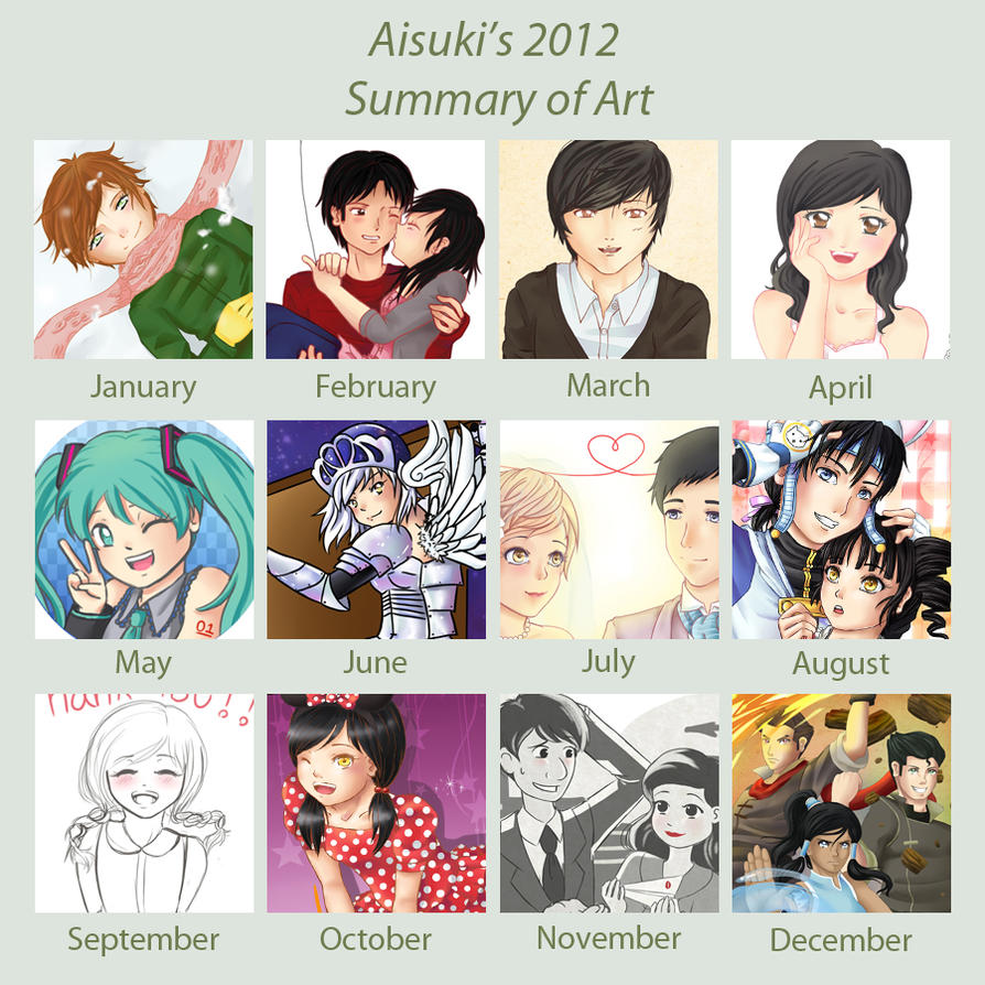 2012 Art Summary Meme by Aisuki-Chan