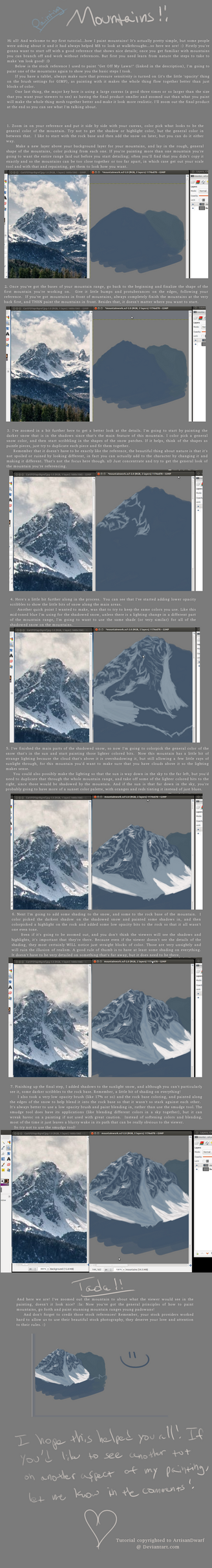 Tutorial: How to Paint Mountains! by ArtisanDwarf