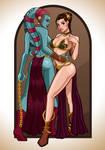 Slave Leia and Aayla Secura