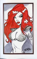 Free Sketch Red Sonja by PatrickFinch