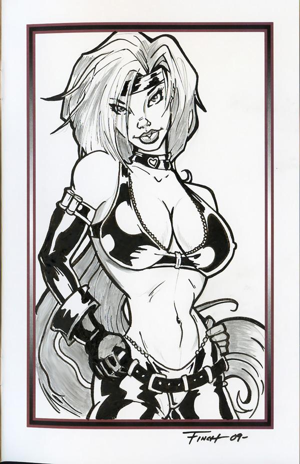 Free Sketch Red Monika by PatrickFinch