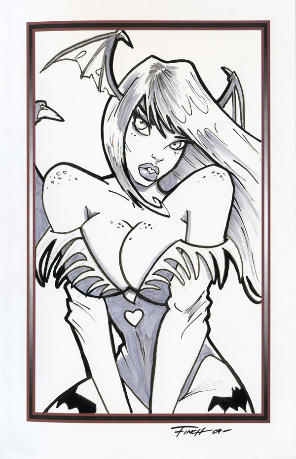 Free Sketch Morrigan Aensland by PatrickFinch