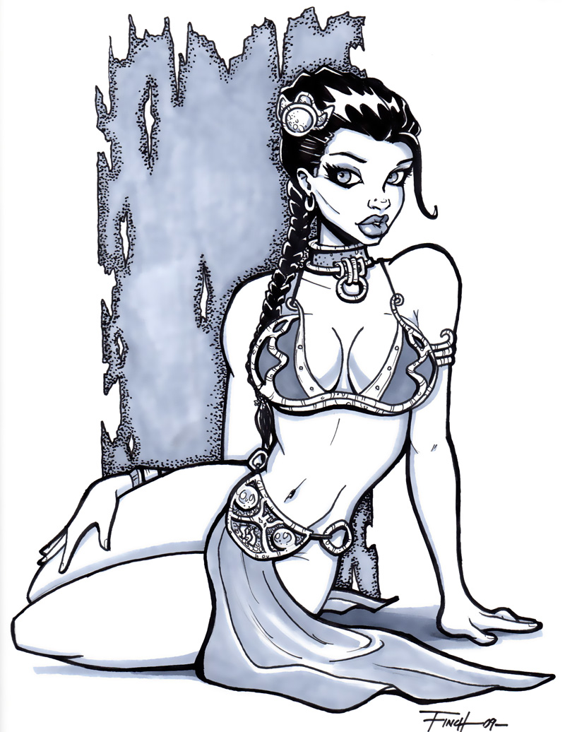 Slave Leia Commission by PatrickFinch