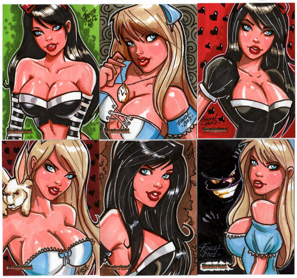 Wonderlend Sketch Cards by PatrickFinch