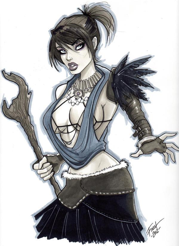 Dragon Age Morrigan by PatrickFinch