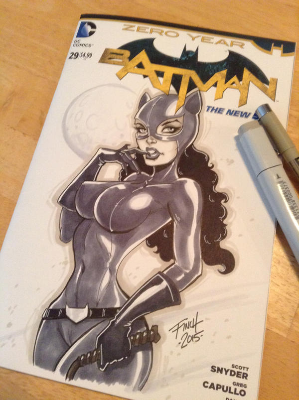 Catwoman Commission Sketch Cover by PatrickFinch