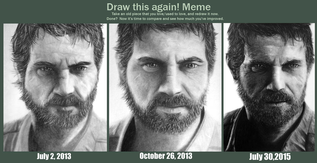 Draw this again! Meme (Joel - The Last of Us) by TricepTerry
