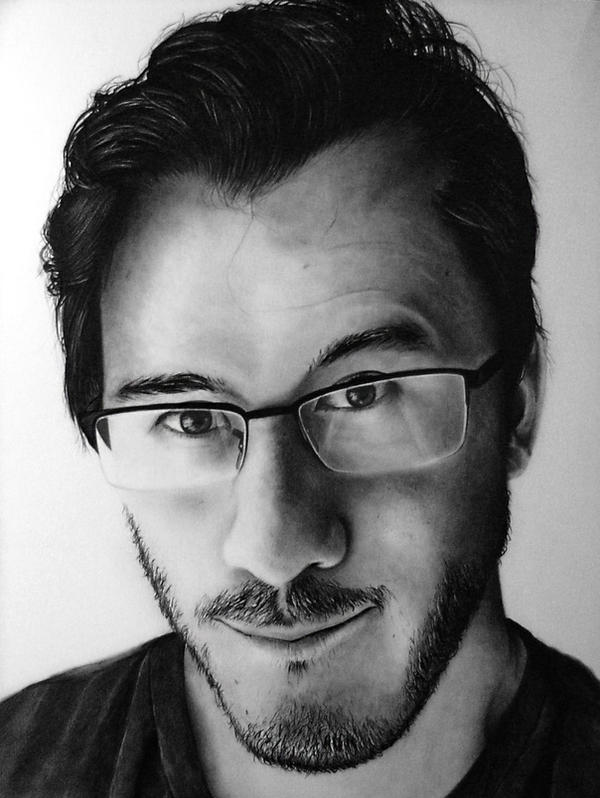 Markiplier Pencil Portrait by Names76