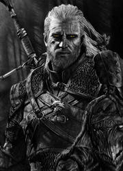 Geralt - The Witcher 3 Pencil Portrait
