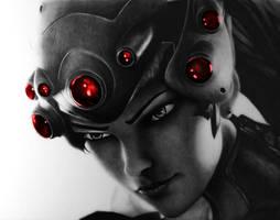 Widowmaker - Overwatch Pencil Portrait