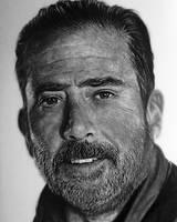 Negan - The Walking Dead - Pencil Portrait by TricepTerry