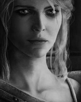 Ciri - The Witcher 3 - Pencil Portrait