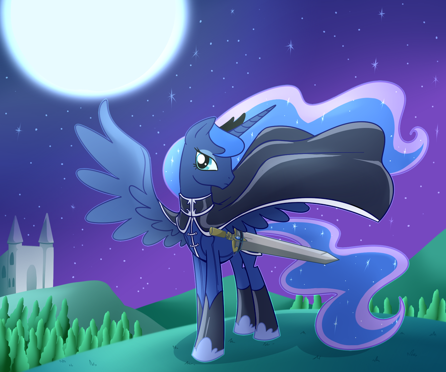 Princess Luna: Protector of Ponyland! by TerraErminasRaven