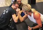 Guy Tries Desperately and Cheats vs Buff Girl