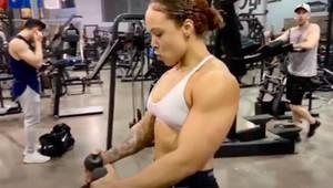 Girl Dominates in Men's Gym