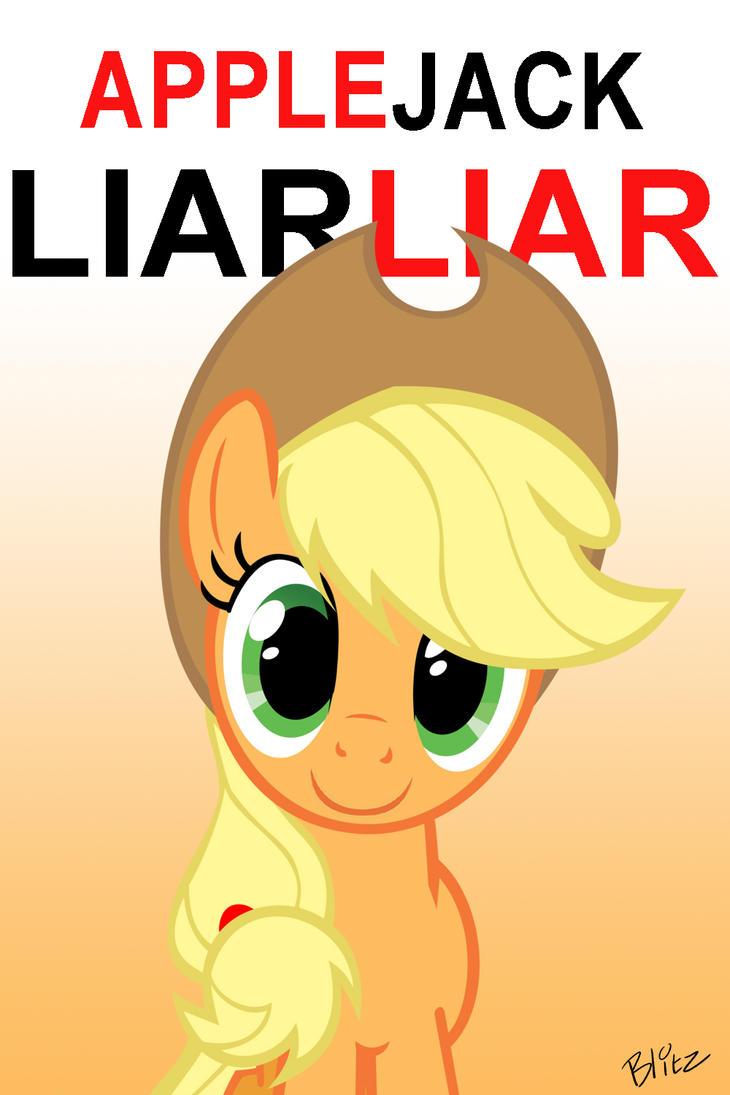 Applejack Liar Liar by Blitz2600