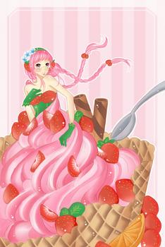 CE: Strawberry Ice cream