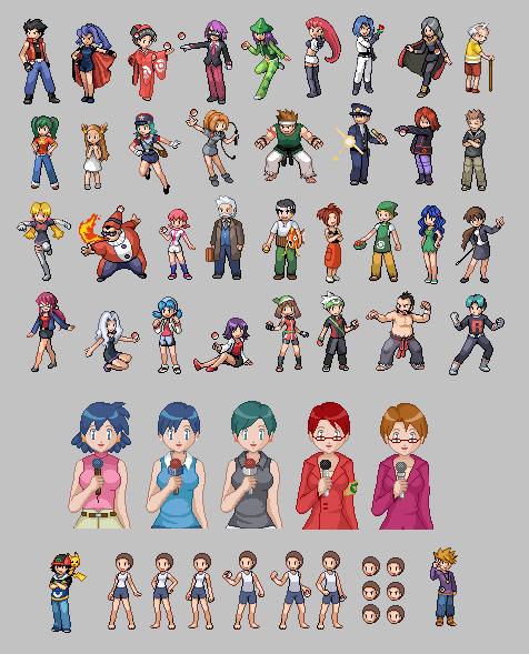 Pokemon Online Sprites by TaniJ