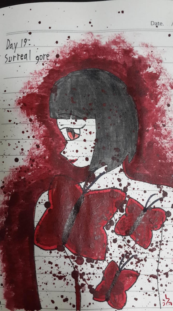 Goretober Day19 : Surreal gore by Willize