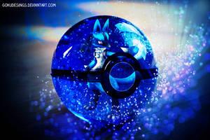 Lucario Into Pokeball by GokuDesings