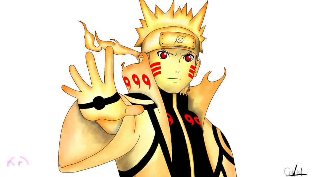 Naruto Bijuu Mode by ChrissieV on DeviantArt