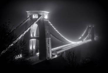Clifton Suspension Bridge Fog by northernmonkeyz