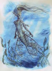 Leafy sea dragon mermaid by barbaramj