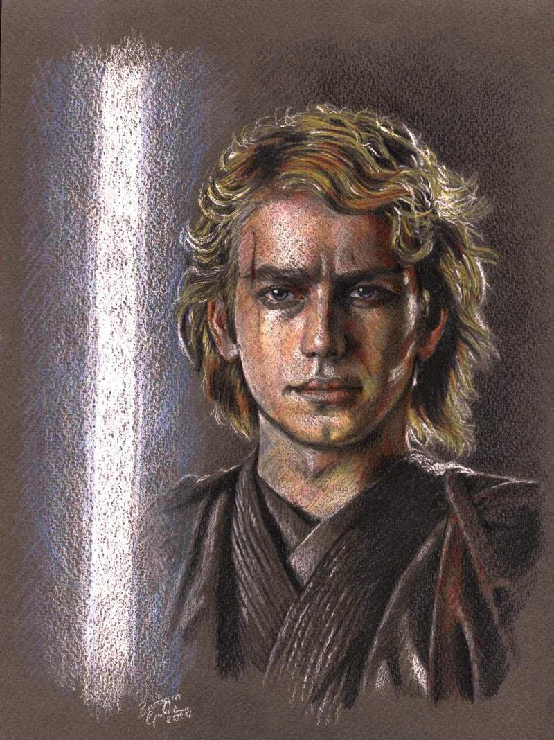 Anakin Skywalker portrait by barbaramj