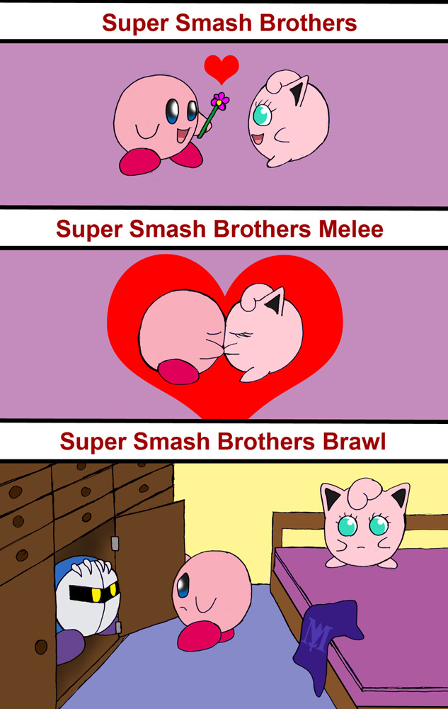 Kirby and Jigglypuff by Rainbow-BoaJigglypuff And Meta Knight