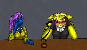 boring dinner by Rainbow-Boa