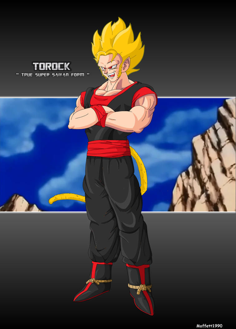 Torock True Super Saiyan Form Commission by Moffett1990