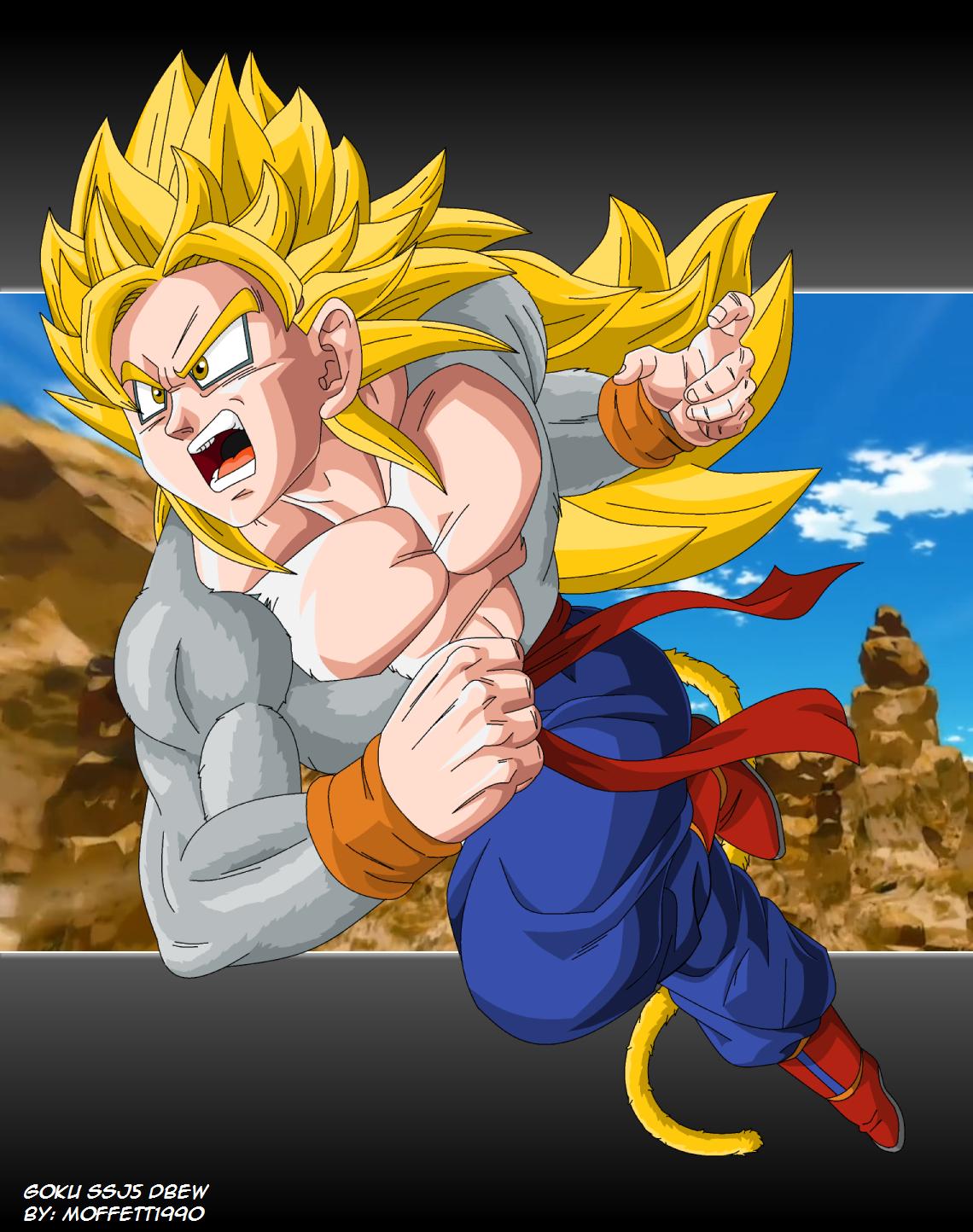Goku SSJ5 DragonBall EW ArtTrade by Moffett1990