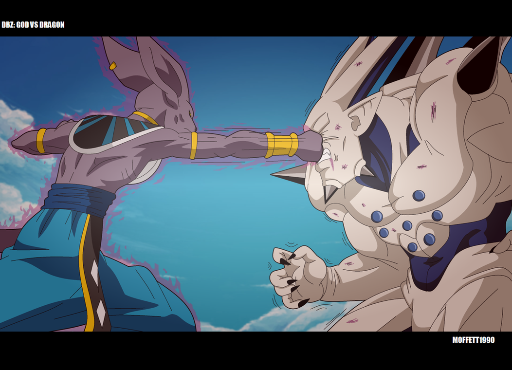 Omega Shenron Vs Kid Buu DBZ God VS Dragon by