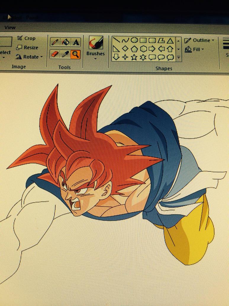 GT Goku SSJG VS Omega Shenron WIP by Moffett1990