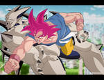 GT Goku SSJG Vs Omega shenron
