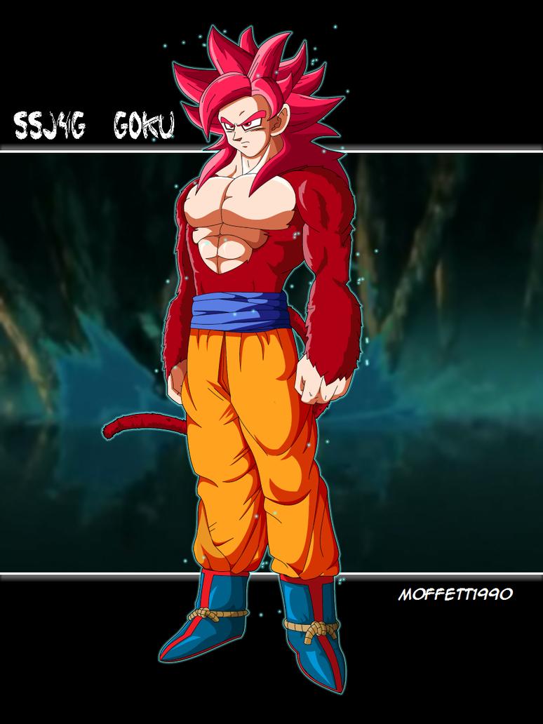 SSJG 4 Goku by Moffett1990