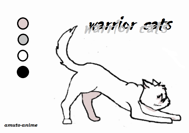 Anime Warrior Cat Base Warrior Cat Strech Base by