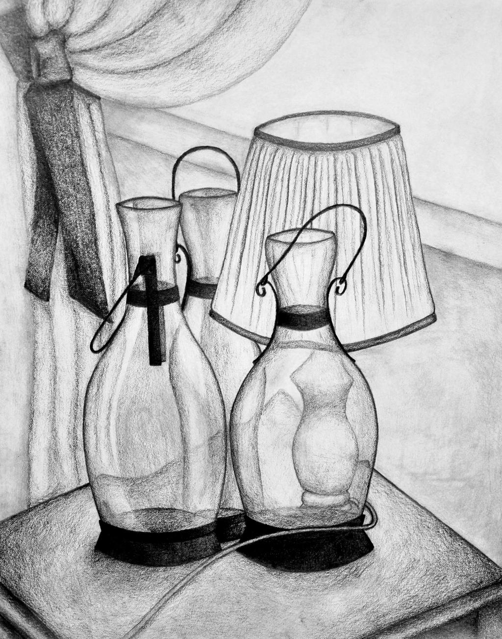 Oil Lamps - Pencil Drawing by Jwells1461 on DeviantArt for Drawing Oil Lamp  111bof