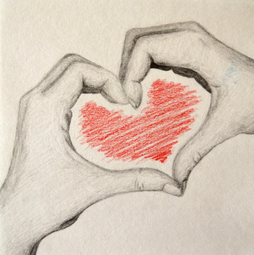 Pictures Of Pencil Drawings Of Hands Making A Heart Kidskunst Info