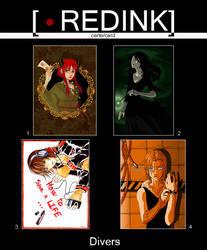 RedInk's cards - Divers by studio-redink