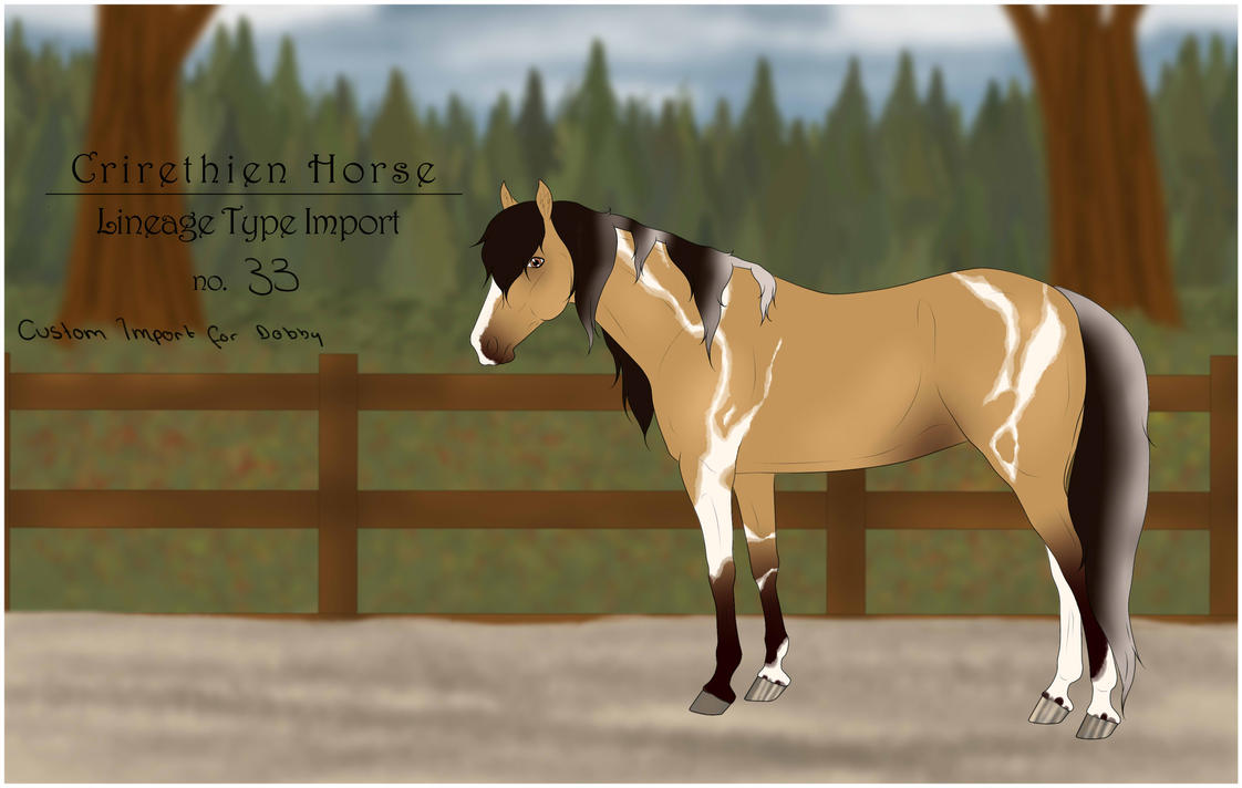 Crirethien Horse Lineage Type no. 33 by Floricenti