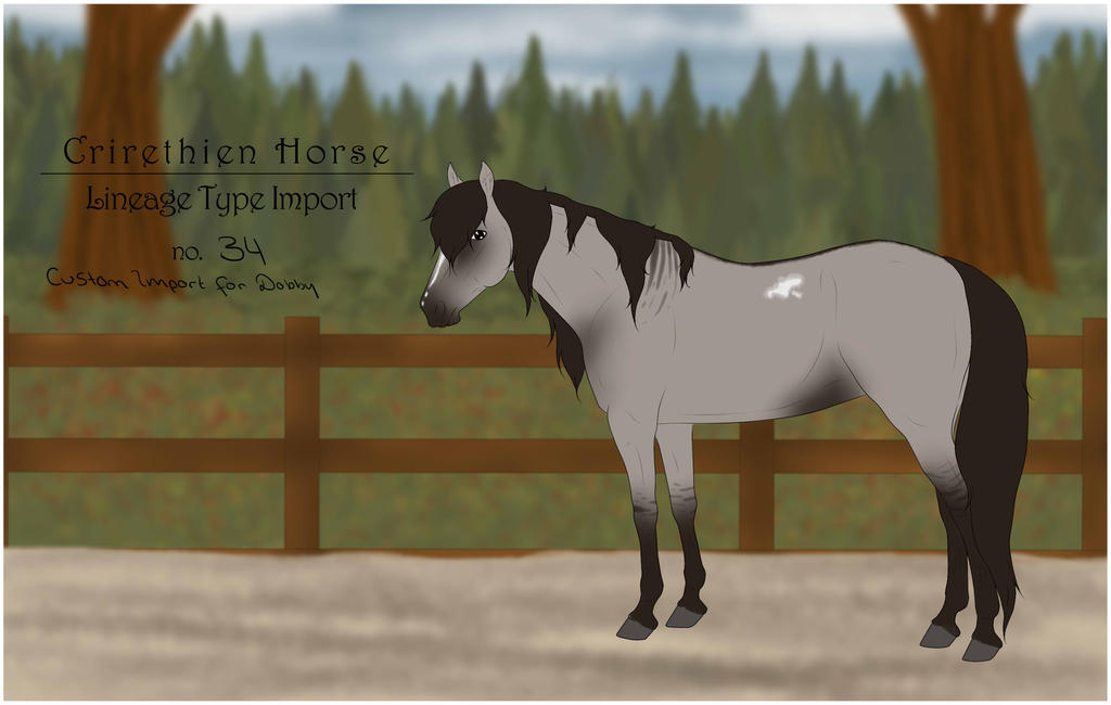 Crirethien Horse Lineage Type no. 34 by Floricenti