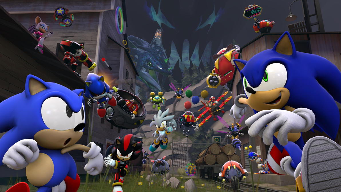[SFM Poster] Sonic Generations by Camo-the-Porcupine
